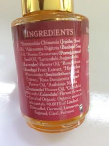 Badger Damascus Rose Face Oil Ingredients