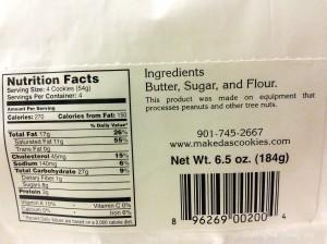 Makeda's Cookies Ingredients