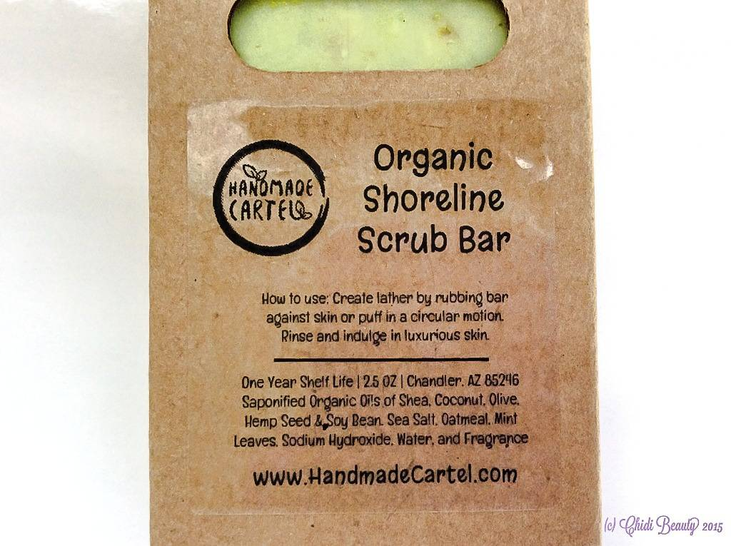 Handmade Cartel Organic Shoreline Scrub Bar in Box • chidibeauty.com