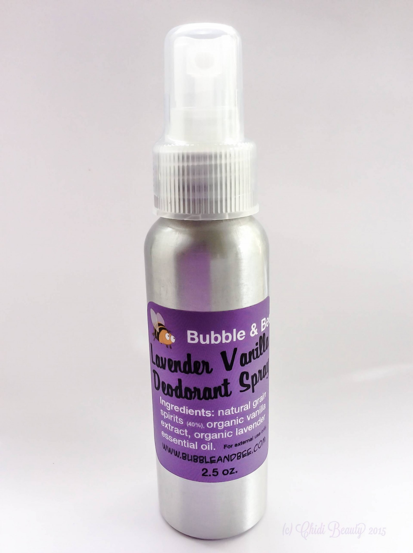 Bubble & Bee Deodorant Spray in Lavender Vanilla