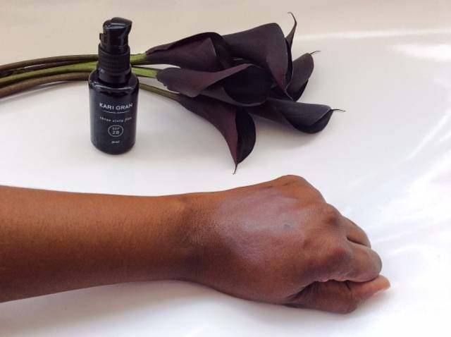 Kari Gran on Dark Brown Skin Without Moisturezer • chidibeauty.com