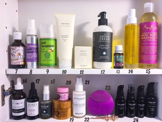 Beauty Shelfie - August 2016 - Bottom 2 Rows • chidibeauty.com