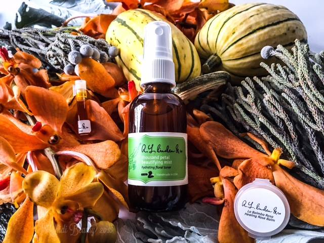 R.L. Linden & Co. Thousand Petal Beautifying Mist La Balmba Rosa and Frankincense Serum • chidibeauty.com