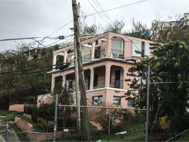 St. Thomas, U.S. Virgin Islands CONTANT HOUSE MISSING ROOF