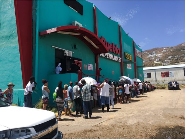 St. Thomas, U.S. Virgin Islands HURRICANE IRMA FOOD LINES