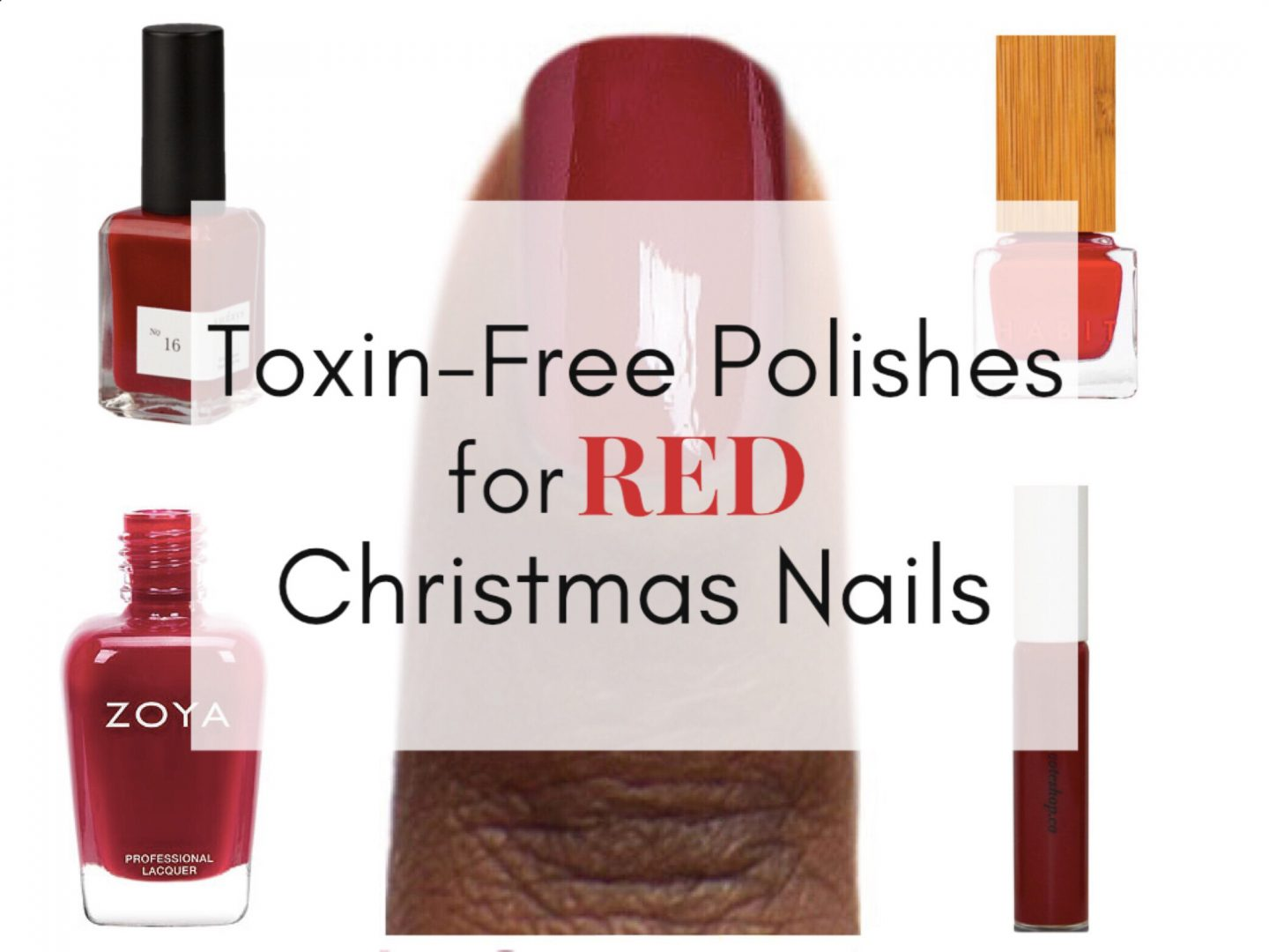 Toxin-Free Polishes for Red Christmas Nails